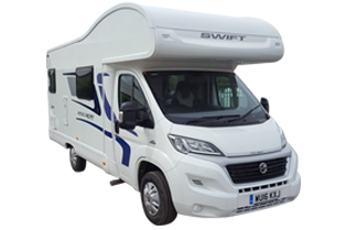 Swift Escape 624 5 berth motorhome for hire